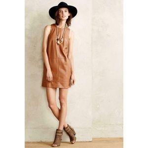 Anthropologie Vegan Leather Shift Dress Moulinette